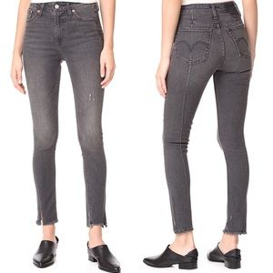 Levi's Altered 721 High Rise Skinny Jeans